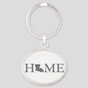 Louisiana Home Oval Keychain