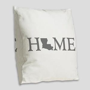 Louisiana Home Burlap Throw Pillow
