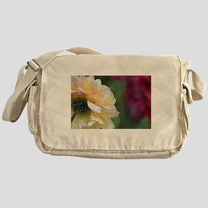Dahlia in the garden Messenger Bag