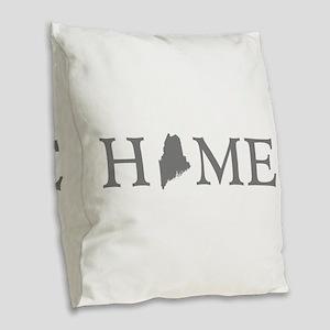 Maine Home Burlap Throw Pillow