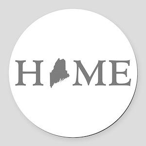 Maine Home Round Car Magnet