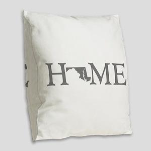 Maryland Home Burlap Throw Pillow