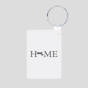 Massachusetts Home Aluminum Photo Keychain