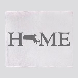 Massachusetts Home Throw Blanket