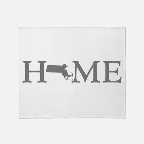 Massachusetts Home Throw Blanket