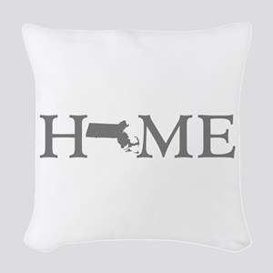 Massachusetts Home Woven Throw Pillow