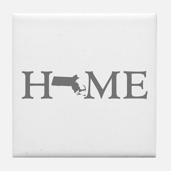 Massachusetts Home Tile Coaster
