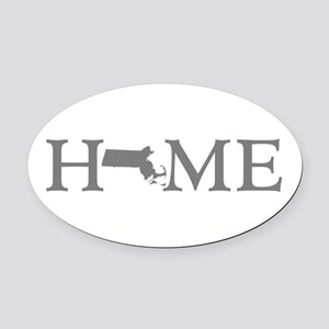 Massachusetts Home Oval Car Magnet
