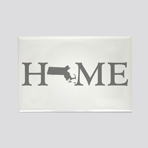 Massachusetts Home Rectangle Magnet