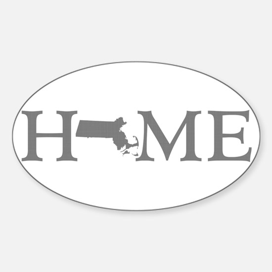 Massachusetts Home Sticker (Oval)