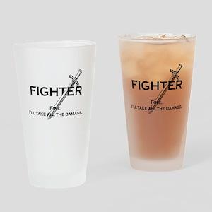 Fightterfinblack Drinking Glass
