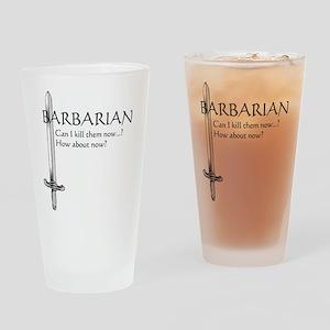 Barbarian Black Drinking Glass