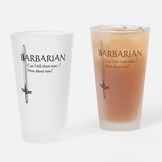 Barbarian Black Drinking Glass