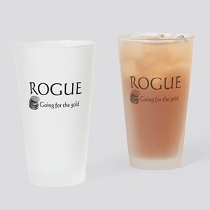 Roguegoinggoldblack Drinking Glass