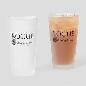 Roguegoinggoldblack Drinking Glass