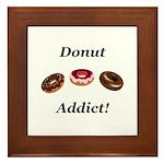 Donut Addict Framed Tile