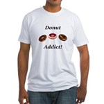 Donut Addict Fitted T-Shirt