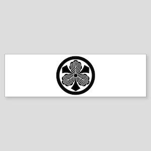 Three oak leaves with swords Sticker (Bumper)