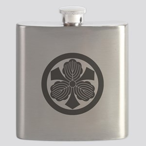 Three oak leaves with swords Flask