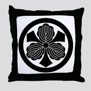 Three oak leaves with swords Throw Pillow