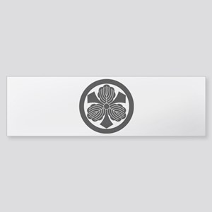 Three oak leaves with swords Sticker (Bumper)