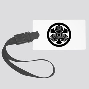 Three oak leaves with swords Large Luggage Tag