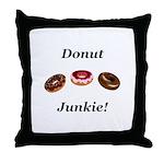 Donut Junkie Throw Pillow