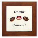 Donut Junkie Framed Tile