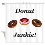 Donut Junkie Shower Curtain