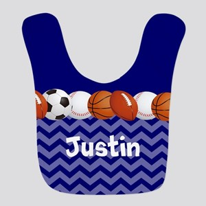 Sports Blue Personalized Bib
