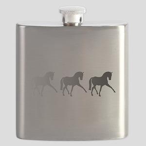 Dressage Horse Sidepass Ombre Flask