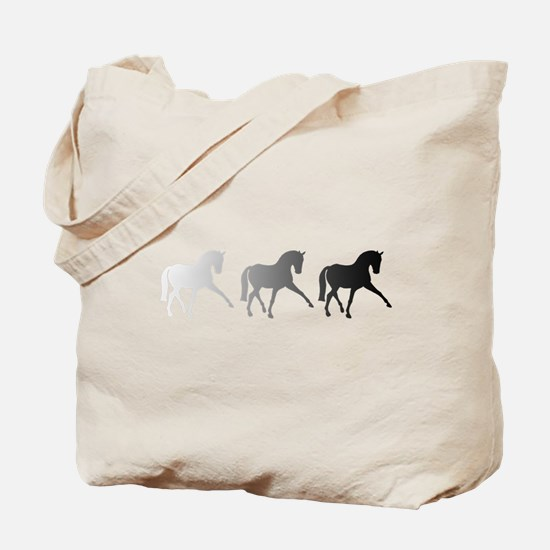 Dressage Horse Sidepass Ombre Tote Bag