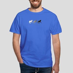 Dressage Horse Sidepass Ombre Dark T-Shirt