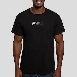 Dressage Horse Sidepas Men's Fitted T-Shirt (dark)