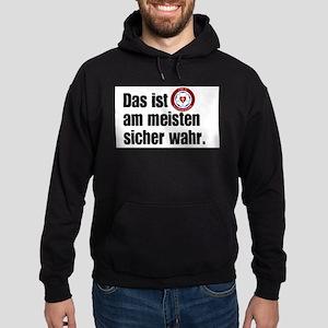 mostcertainlytrue in german Sweatshirt