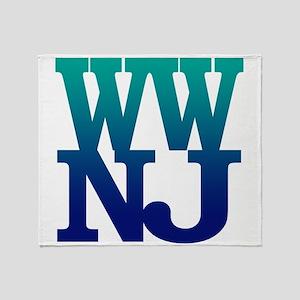 Greetings from Wildwood, NJ Throw Blanket