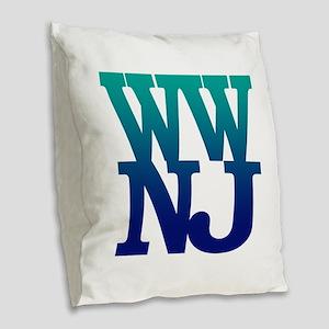 Greetings from Wildwood, NJ Burlap Throw Pillow