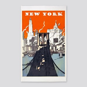 New York Brooklyn Bridge Area Rug