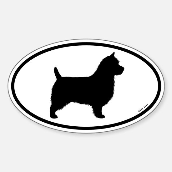 Australian Terrier Oval Decal