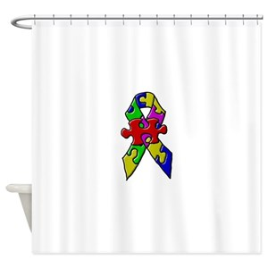 Green Ribbon Shower Curtains