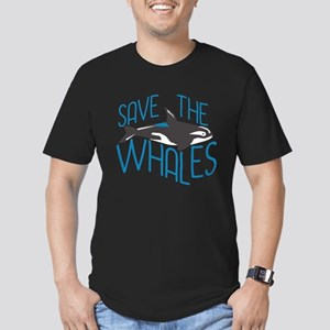 Save the Whales Men's Fitted T-Shirt (dark)