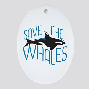 Save the Whales Oval Ornament