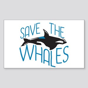 Save the Whales Sticker (Rectangle)