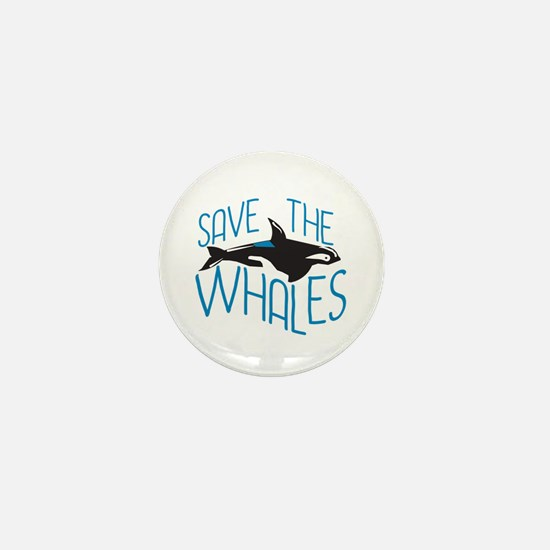 Save the Whales Mini Button