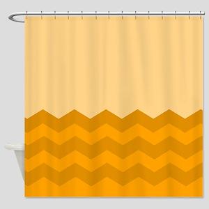 Chevrons In Orange Shower Curtain