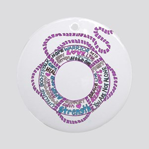 The Life Saver Ornament (Round)