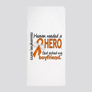 Leukemia Heaven Needed Hero 1.1 Beach Towel