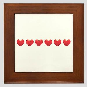 Heart Strip Framed Tile