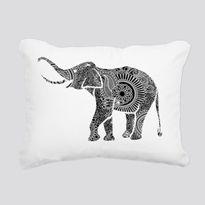 Black And White Ornate F Rectangular Canvas Pillow