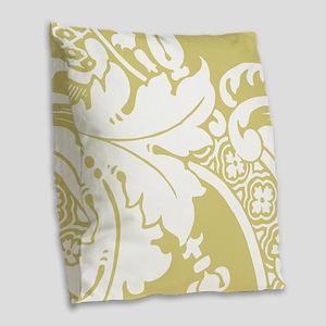 Acantha, French Green Burlap Throw Pillow
